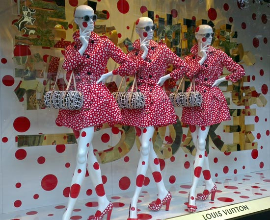 Window Loving: Louis Vuitton and Yayoi Kusama Take Over Selfridges