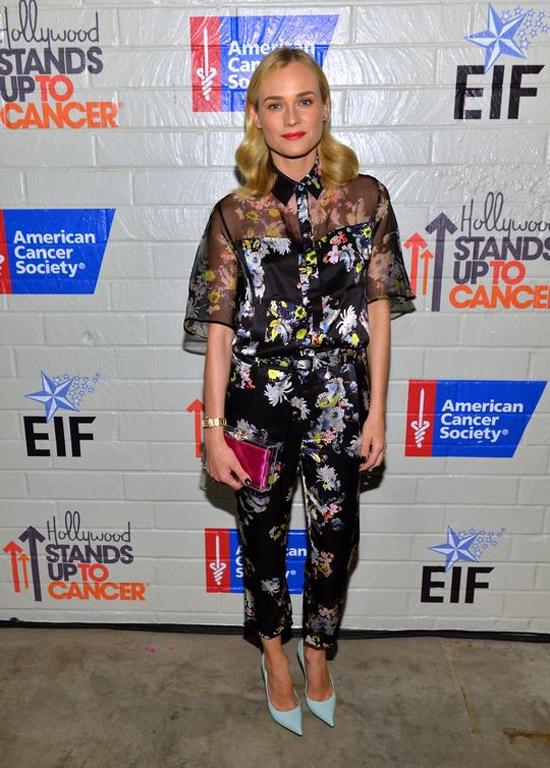 Hollywood Stands Up To Cancer: Diane Kruger In Erdem