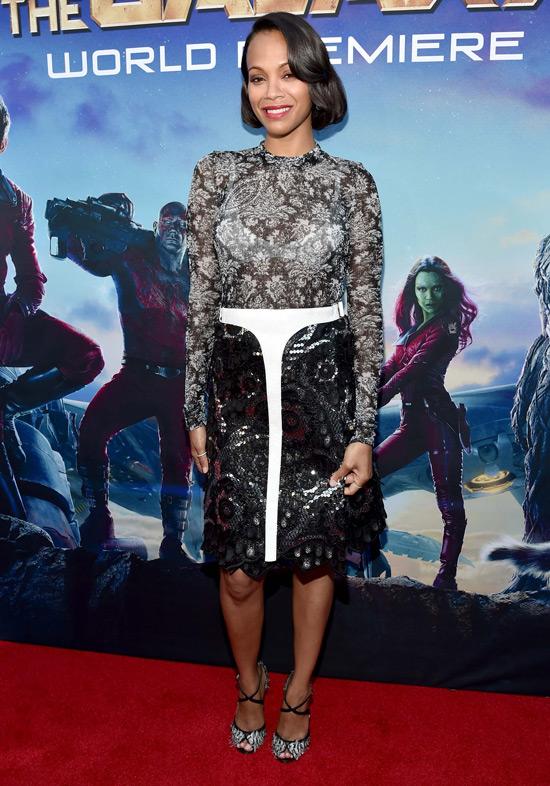 Guardians of the Galaxy: Zoe Saldana In Louis Vuitton