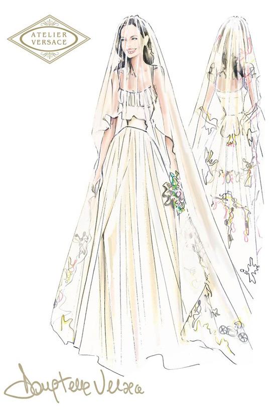 Wedding: Angelina Jolie Marries In Atelier Versace