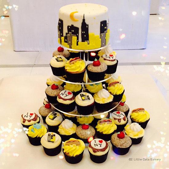 wedding cake,2 little cats bakery,wedding,cake,new york inspired cake,new york