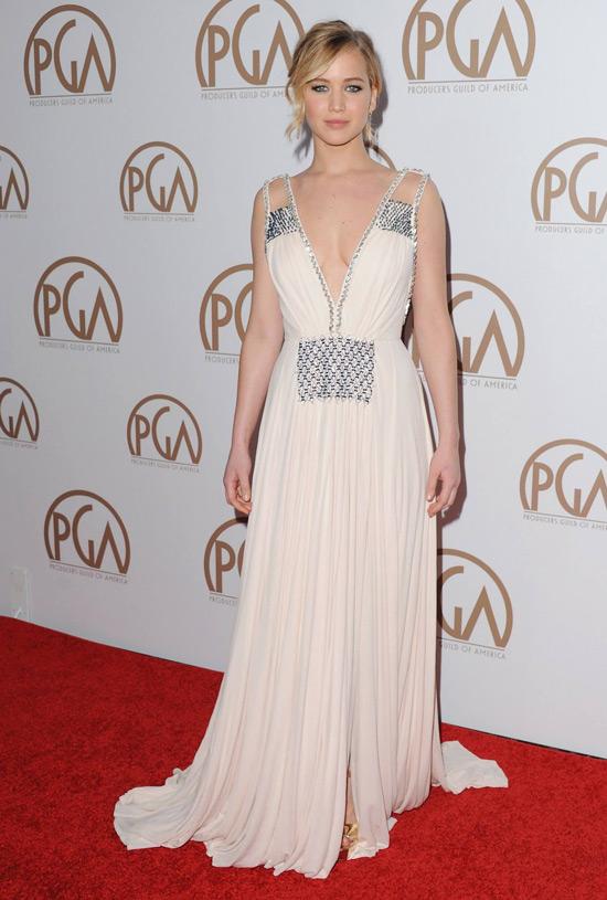 Producers Guild Awards: Jennifer Lawrence In Prada