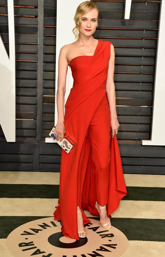 Vanity Fair Oscar Party: Diane Kruger In Donna Karan Atelier