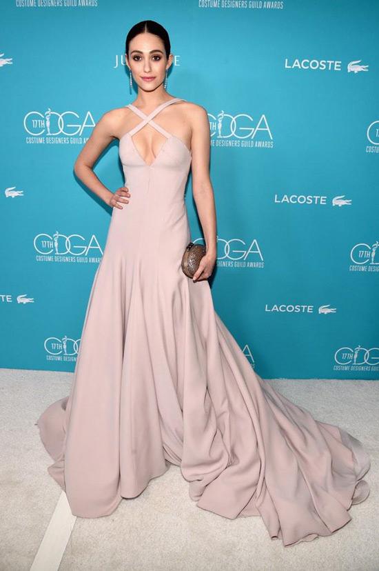 Costume Designers Guild Awards: Emmy Rossum In Donna Karan Atelier