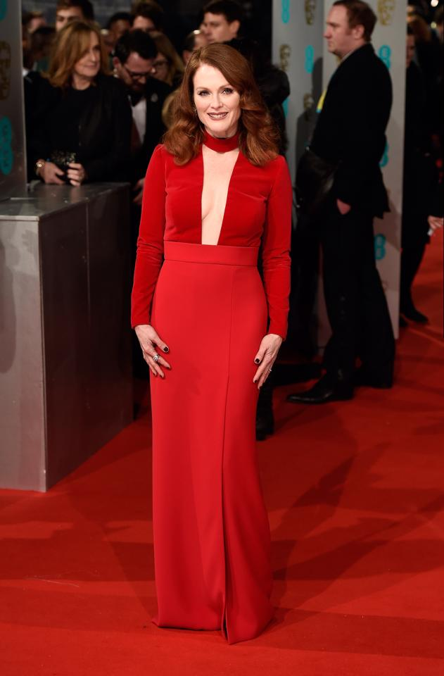 tom ford,julianne moore,baftas,red carpet,fashion