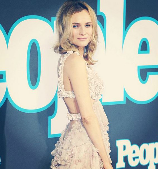 people launch,diane kruger,people magazine,red carpet, alexander mcqueen, actress, pink dress