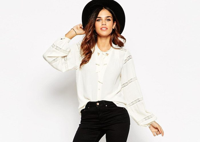 pussy-bow blouse, asos, shopping, trend