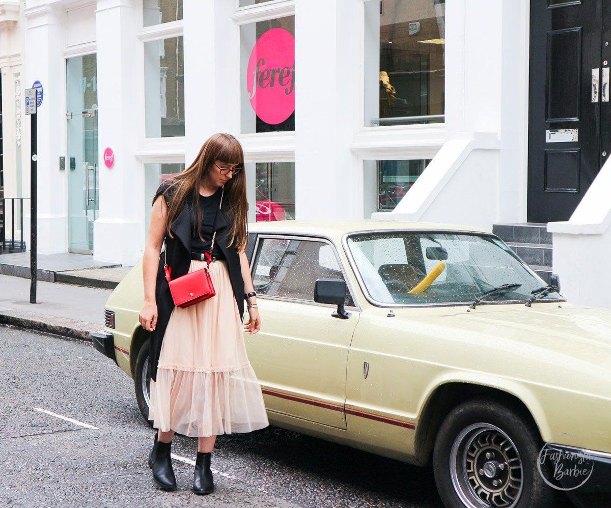 Molly Goddard, LFW, London Fashion Week, Emu Australia, Zara, Boohoo, My Style, Fashionista Barbie, Fashion Blogger, Style Blogger, Top UK Fashion Blogger, Tulle Skirt, Red Bag