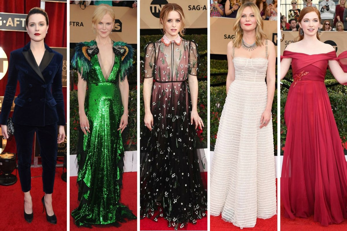 SAG Awards 2017, SAG Awards, Red Carpet, Celebrity Fashion, Who was the best dressed at the SAG Awards 2017?, Nicole Kidman, Dior, Gucci, Kirsten Dunst, What Was Claire Foy wearing?, Claire Foy, Valentino