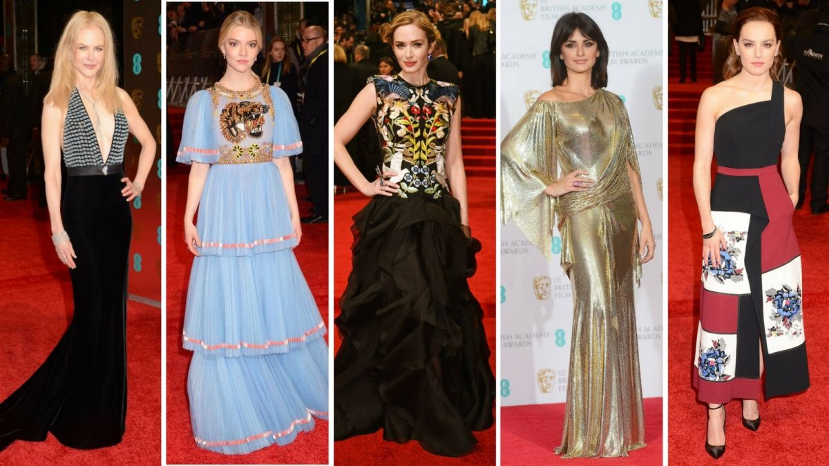BAFTAs 2017, BAFTAs, BAFTA, Award Season, Film Awards, Nicole Kidman, Daisy Ridley, Penelope Cruz, Emiy Blunt