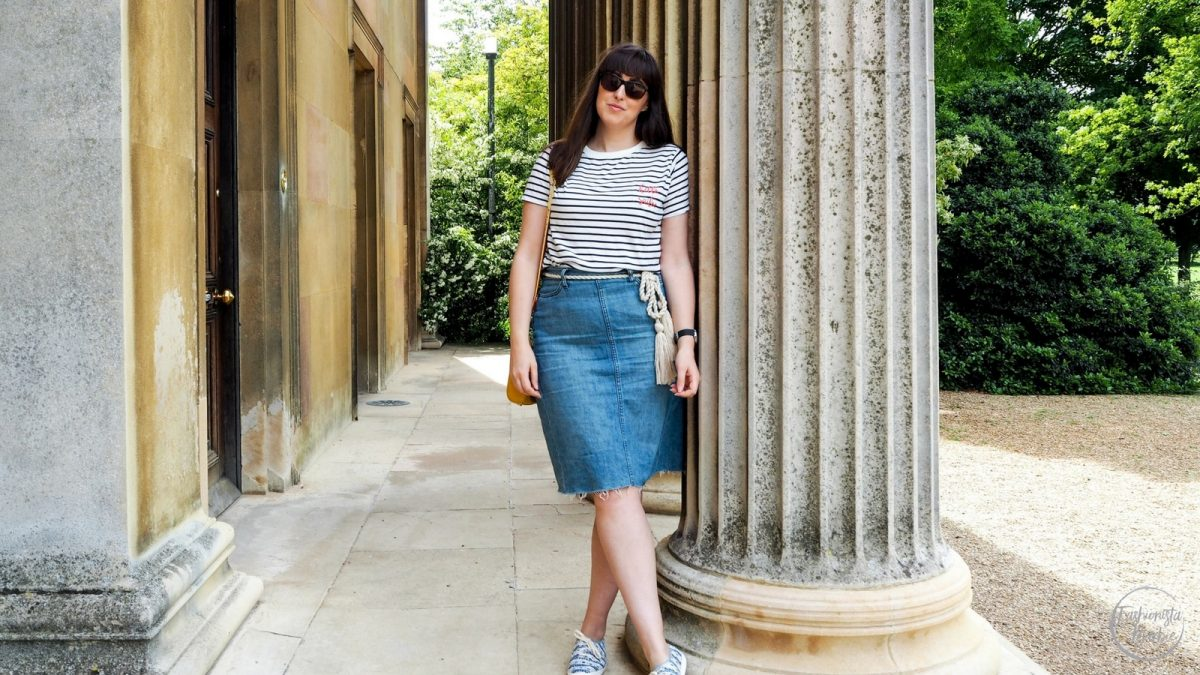 summer uniform,denim skirt, gap,sugarhill boutique, fashionista barbie, style post, style blogger, fashion blogger uk, blogger uk, cath kinston, stripes, how to wear a denim skirt, how to style stripes,cambridge