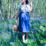 Button-down, Button trend, Summer trend, summer style, button skirt, asos, H&M, fashionista barbie, style blogger, bluebells, wicker bag, basket bag
