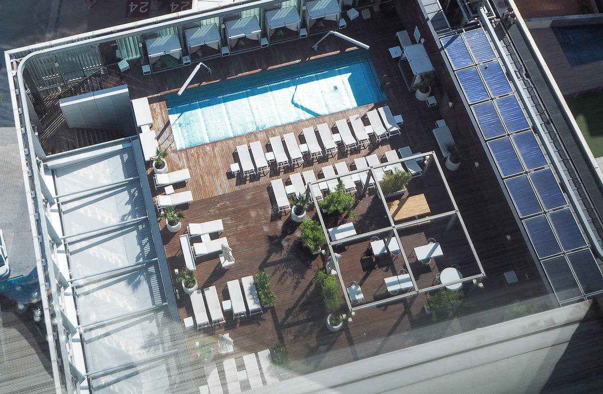 Melia, Melia Barcelona Sky, Barcelona Hotel, Hotel Pool, Hotel, Barcelona, Pool,Swimming Pool