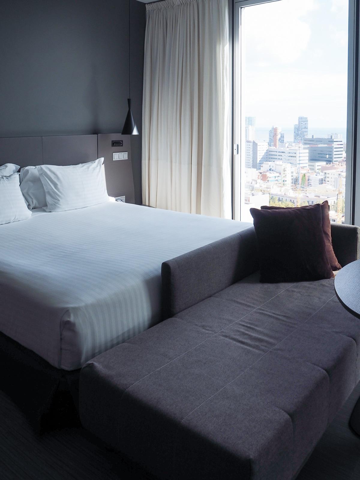 Melia, Melia Barcelona Sky, Barcelona Hotel, Hotel Bedroom, Hotel, Barcelona,