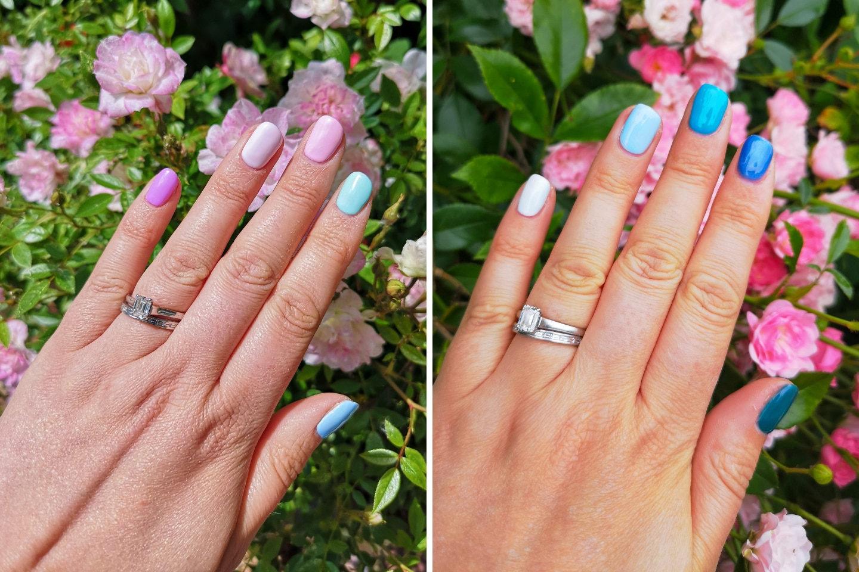 Rainbow Nails, Gel Nails, Summer Nails, Nails, Beauty, How to, Colourful Nails