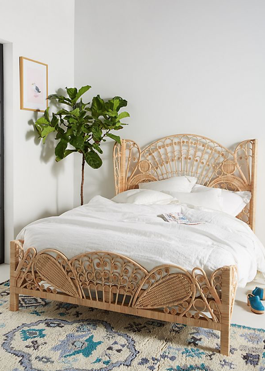 Rattan, Interior trend, Interiors, Decor, Rattan Bed