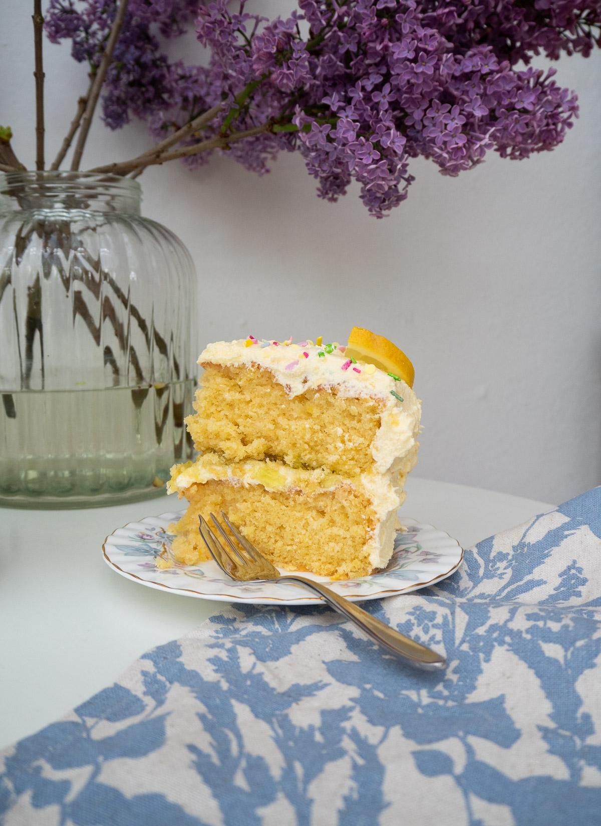 Lemon Cake, Recipe, Cake, Lemon Sponge Cake, Lemon Buttercream, Birthday Cake